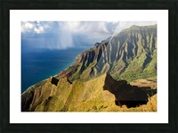 The Cliff Sides of Kauai Picture Frame print
