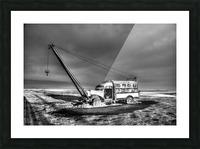 Vintage Boom Truck Picture Frame print