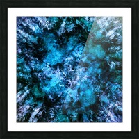 Blue burst Picture Frame print