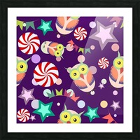 owl pattern background Picture Frame print