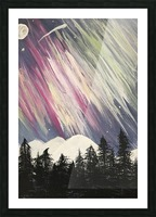 Aurora Borealis Above The Forest Picture Frame print