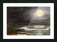 Moonlit Seascape Picture Frame print