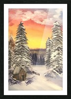 Snow At Sunset Picture Frame print