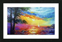 Sailboat at sunset  Picture Frame print