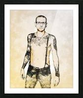 Chester Bennington Picture Frame print