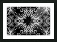 Classic Fractal in black and white Picture Frame print