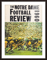 1960 notre dame football Picture Frame print