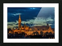 budapest church architecture Picture Frame print