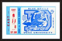 1973 Duke vs. North Carolina Picture Frame print