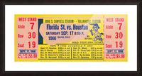 florida state seminoles ticket stub art Picture Frame print