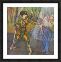 Harlequin and Colombine by Degas Picture Frame print
