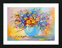 A bouquet of bright flowers Picture Frame print