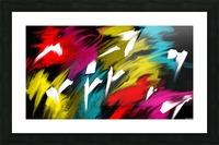 Neon Smoke Picture Frame print