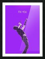 Fix You   Chris Martin Picture Frame print