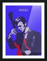 Heroes   David Bowie Picture Frame print