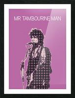 Mr Tambourine Man   Bob Dylan Picture Frame print