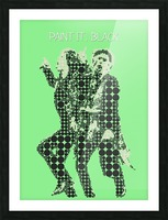Paint it Black   Mick Jagger and Keith Richards Picture Frame print