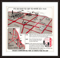chicago map Picture Frame print