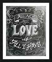 allloveprint Picture Frame print