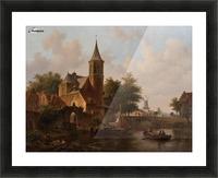 Stadsgezicht mogelijk Den Haag Picture Frame print