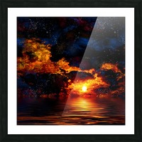 Amazing Sunset Picture Frame print