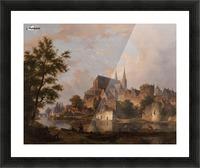 Capriccio stadsgezicht, elementen Deventer Picture Frame print