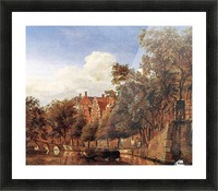 Along the canal Picture Frame print
