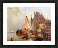 Hove van H - The ferry - Sun Picture Frame print