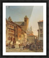 Belgian Continental Market Picture Frame print