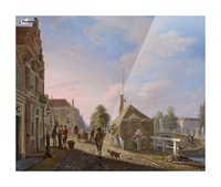 The Spui in The Hague Picture Frame print