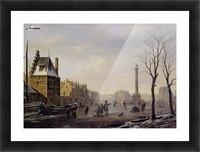 Pompenburg met Hofpoort in de winter Picture Frame print