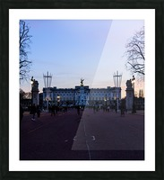 Dusk at Buckingham Palace London Picture Frame print