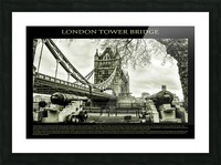 Vintage London Tower Bridge Picture Frame print