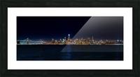 San Francisco City Skyline Panorama Picture Frame print