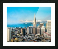 San Francisco Skyline Picture Frame print