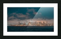 Cloudy San Francisco Night Skyline Picture Frame print