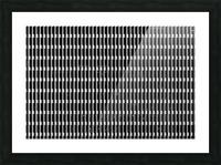 Black and White Skyscraper Windows Picture Frame print