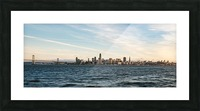 San Francisco City Skyline At Sunset Picture Frame print