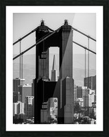 Threading the Needle - Golden Gate Bridge in Black and White Picture Frame print