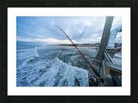 Fishing in Huntington Beach Picture Frame print