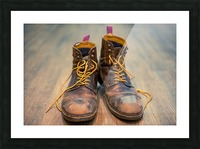 Worn Out Boots Picture Frame print