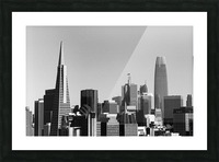 Black and White San Francisco Skyline Picture Frame print