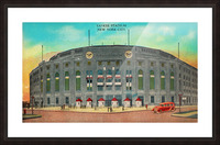 1935 Vintage New York Yankees Stadium Art Picture Frame print