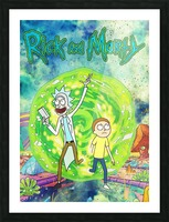 Rick and morty_  Picture Frame print