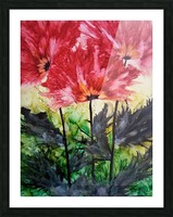 Poppies Galore Picture Frame print