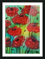 Thinking of Poppies Picture Frame print