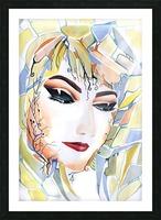 Chic Artistic Feminine Portrait Picture Frame print