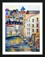Sweden Stockholm Gamla Stan Watercolor Picture Frame print