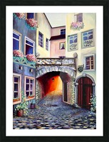 Brussels Cityscape Bohemian Painting Picture Frame print