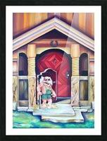 Scandinavian Folklore Troll Artwork  Picture Frame print